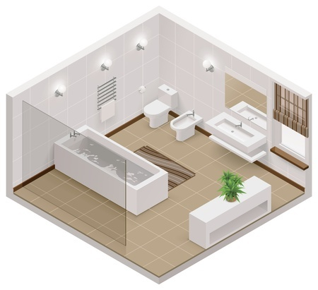 22644488_s Vector isometric bathroom icon